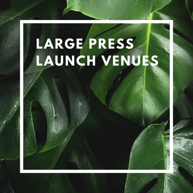 large press launch venues