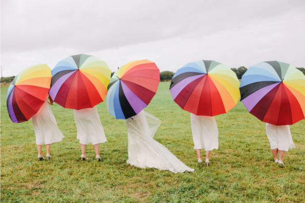 Umbrella wedding - Canvas Events