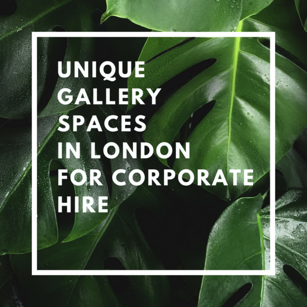 unique gallery spaces in london for corporate hire