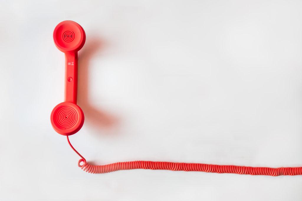 A red telephone in a London venue