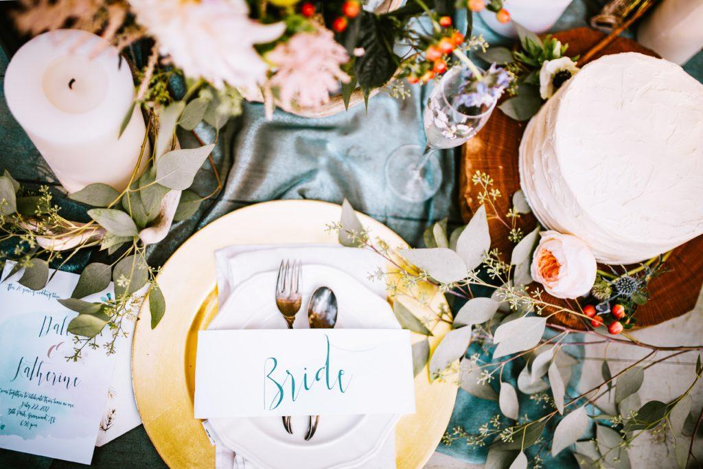 Bridal dinner setting