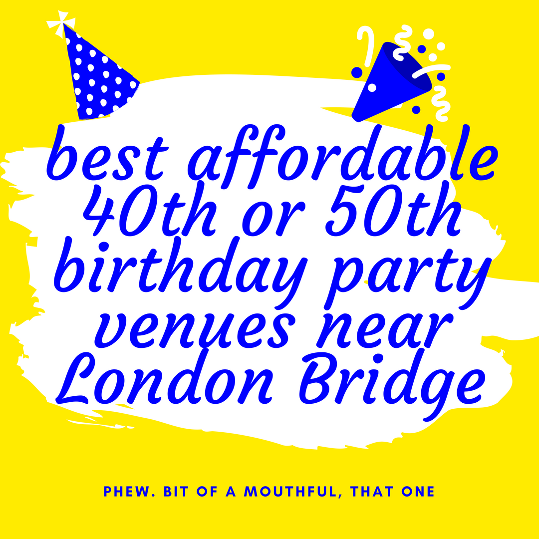 Best Affordable 40th Or 50th Birthday Party Venues Near