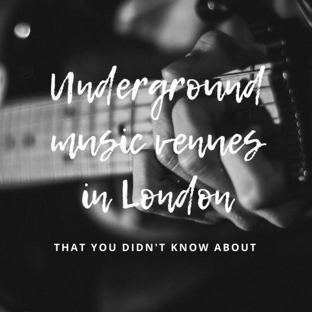 underground music venues in london