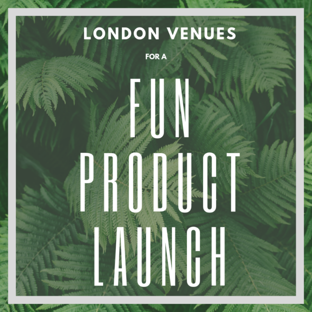 London venues FOR A FUN PRODUCT LAUNCH insta