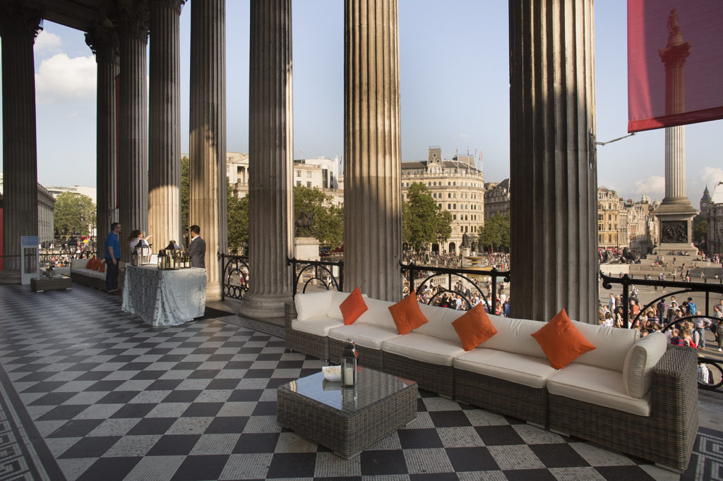 portico terrace national gallery breakout space