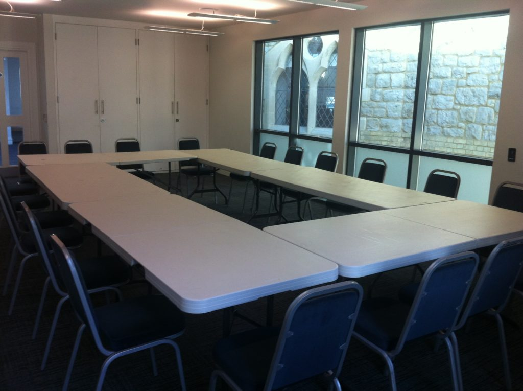 the rock tower meeting room