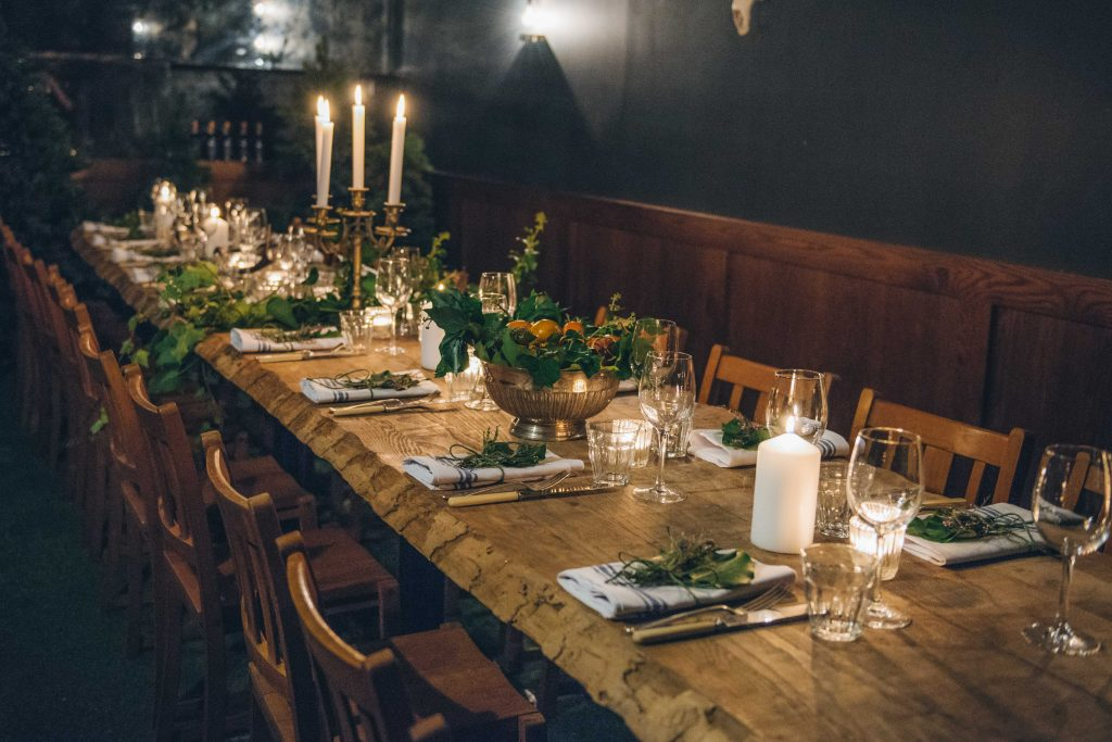 mac and wild private dining east london birthday party