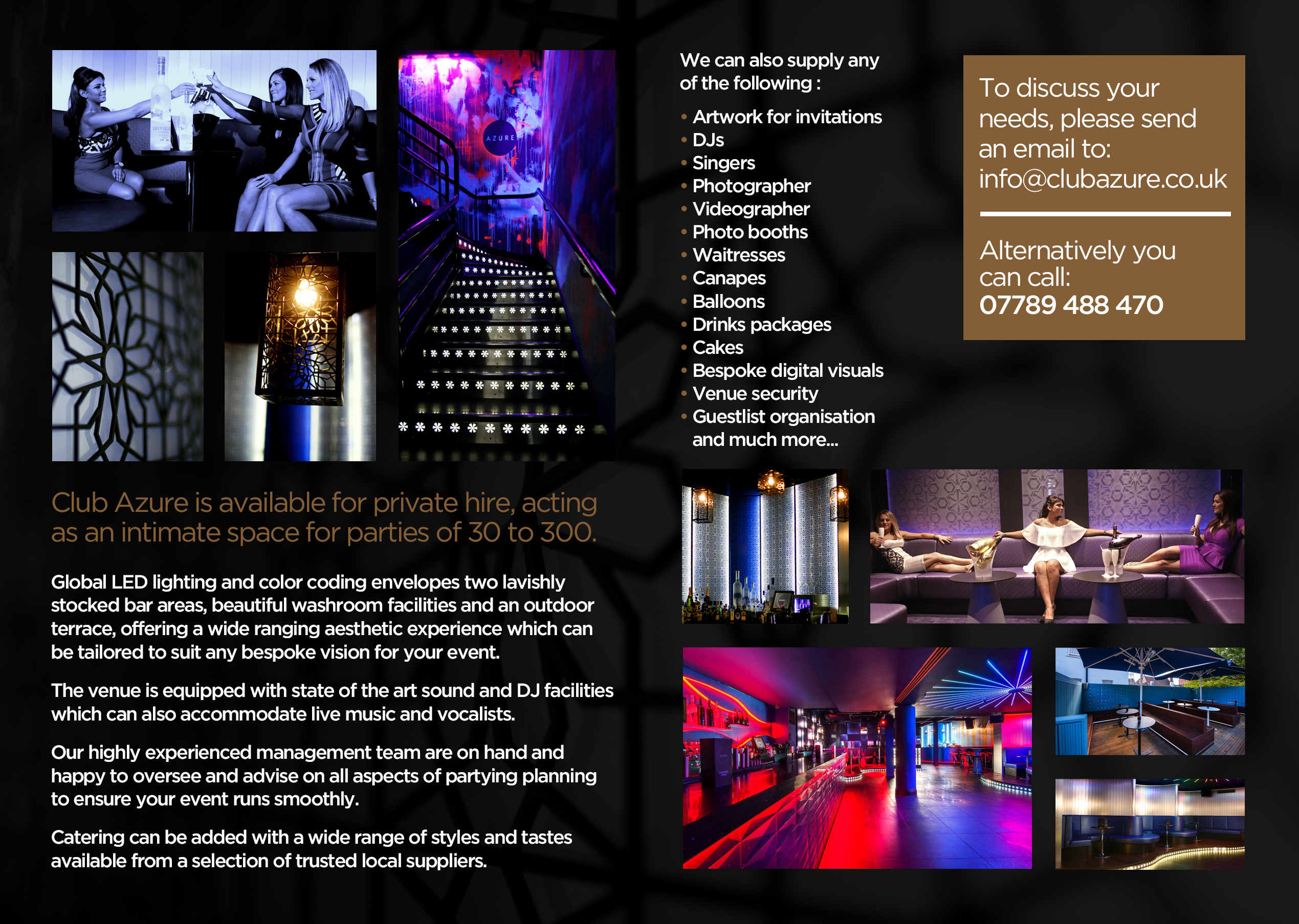 Club Azure London Venue Hire Canvas Events